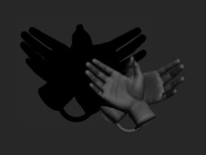Eagle - Hand Shadows in White Strong & Flexible
