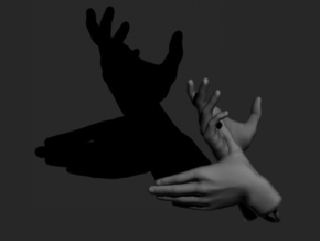 Deer - Hand Shadows in White Strong & Flexible