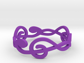 Size 8 G-Clef Ring A in Purple Processed Versatile Plastic