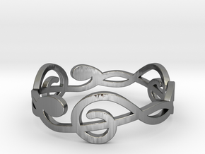 Size 7 G-Clef Ring A in Polished Silver