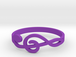 Size 10 G-Clef Ring  in Purple Processed Versatile Plastic