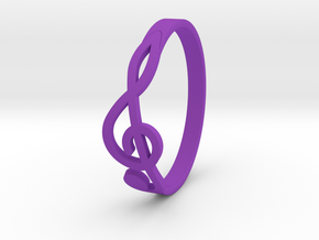 Size 8 G-Clef Ring  in Purple Processed Versatile Plastic