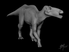 Shantungosaurus 1/72 in White Strong & Flexible