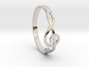Size 6 G-Clef Ring  in Platinum