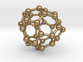 0020 Fullerene c34-5 c2 in Polished Gold Steel