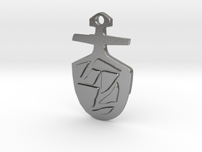 Third Doctor's T.A.R.D.I.S. Key Pendant in Natural Silver