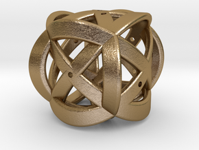 Dice151 in Polished Gold Steel