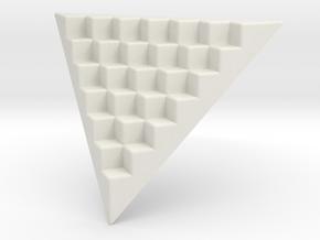 Pyramid Base for 12mm Dice (6 per edge) in White Natural Versatile Plastic