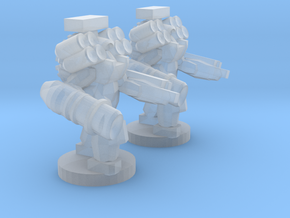 UWN - Infantry Heavy Mecha Suit Team in Smooth Fine Detail Plastic