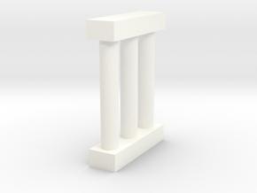 N Scale Bridge Pier #2 in White Processed Versatile Plastic