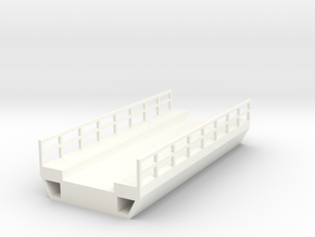 N Scale Modern Concrete Bridge Deck Single Track 8 in White Strong & Flexible Polished