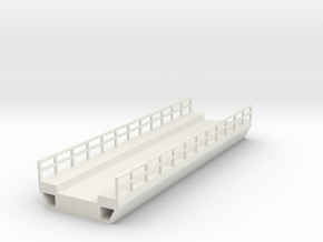 N Modern Concrete Bridge Deck Single Track 120mm in White Strong & Flexible