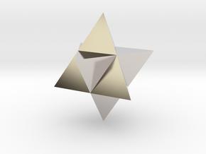 Star Tetrahedron (Merkaba) in Platinum