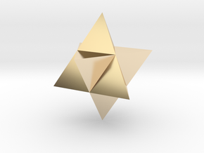 Star Tetrahedron (Merkaba) in 14K Yellow Gold