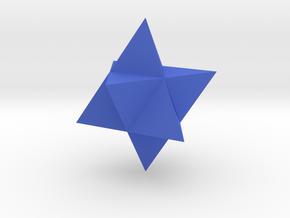 Star Tetrahedron (Merkaba) in Blue Processed Versatile Plastic