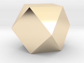 Cube Octahedron (Vector Equilibrium) in 14K Yellow Gold