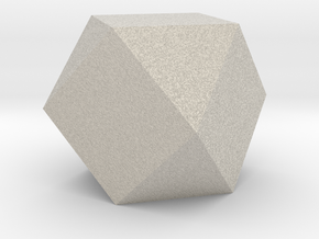 Cube Octahedron (Vector Equilibrium) in Natural Sandstone