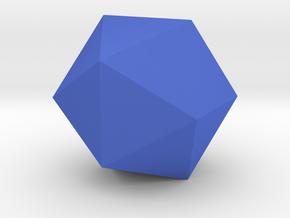 Icosahedron in Blue Processed Versatile Plastic