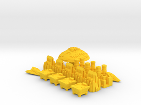 Space Game Pieces in Yellow Strong & Flexible Polished