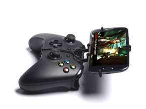 Xbox One controller & Samsung Galaxy A7 - Front Ri in Black Natural Versatile Plastic
