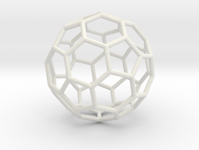 0024 Fullerene c60-ih Bonds/Truncated icosahedron in White Natural Versatile Plastic
