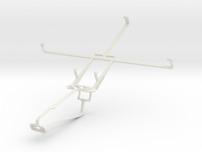 Controller mount for Xbox One Chat & Acer Iconia T in White Natural Versatile Plastic