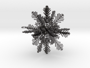 Snowflake for Decoration in Polished Nickel Steel