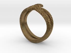 Snake ring in Natural Bronze