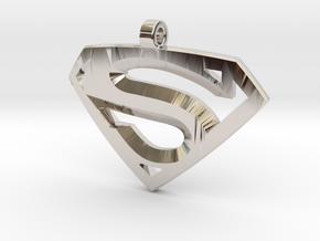 Superman Medallion in Platinum