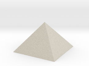 Golden Pyramid in Natural Sandstone