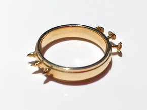 Nailed Wedding Ring - Size 8 in Polished Brass