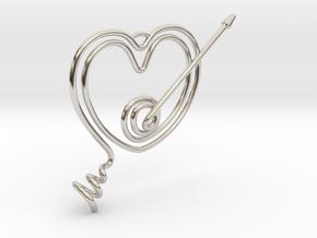 Heart Pendant  in Platinum