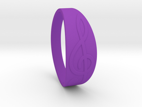 Size 7 M G-Clef Ring  in Purple Processed Versatile Plastic