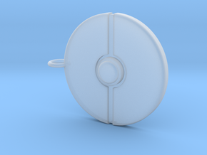 Poke Ball Pendant in Smooth Fine Detail Plastic