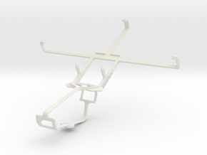 Controller mount for Xbox One & Asus Fonepad Note  in White Natural Versatile Plastic