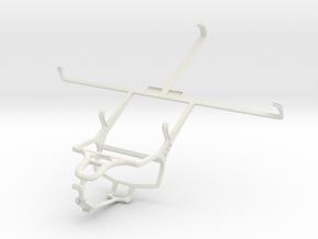 Controller mount for PS4 & Asus Google Nexus 7 Cel in White Natural Versatile Plastic