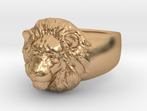 Lion Ring (size11) in Polished Bronze