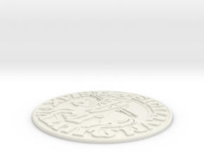 Knights Templar Seal in White Strong & Flexible