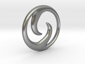 'Ride The Wave' Pendant in Natural Silver