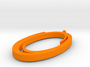 Portal Pendant in Orange Processed Versatile Plastic