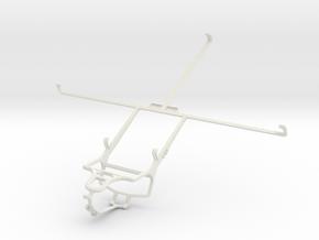 Controller mount for PS4 & Asus Transformer Prime  in White Natural Versatile Plastic