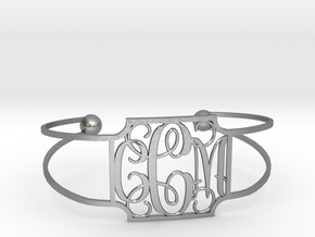 Monogram Bracelet in Raw Silver