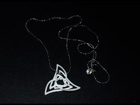 Triquetra 3 in Fine Detail Polished Silver