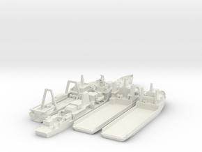 Cod War Set 3 1:700/600 in White Natural Versatile Plastic: 1:700