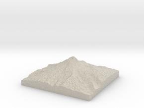 Model of Steel Cliff in Natural Sandstone