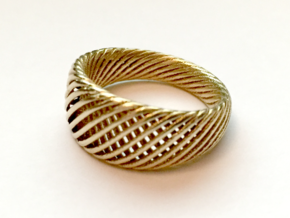 Twisted Ring - Size 5 in Natural Brass