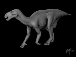 Iguanodon 1/72 in White Natural Versatile Plastic
