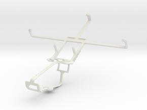 Controller mount for Xbox One & BLU Quattro 5.7 HD in White Natural Versatile Plastic