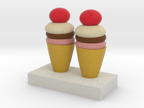Ice Creams Model in Full Color Sandstone