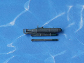 "Submarine Type XXVII A ""Hecht"" 1/285 6mm in Smooth Fine Detail Plastic"